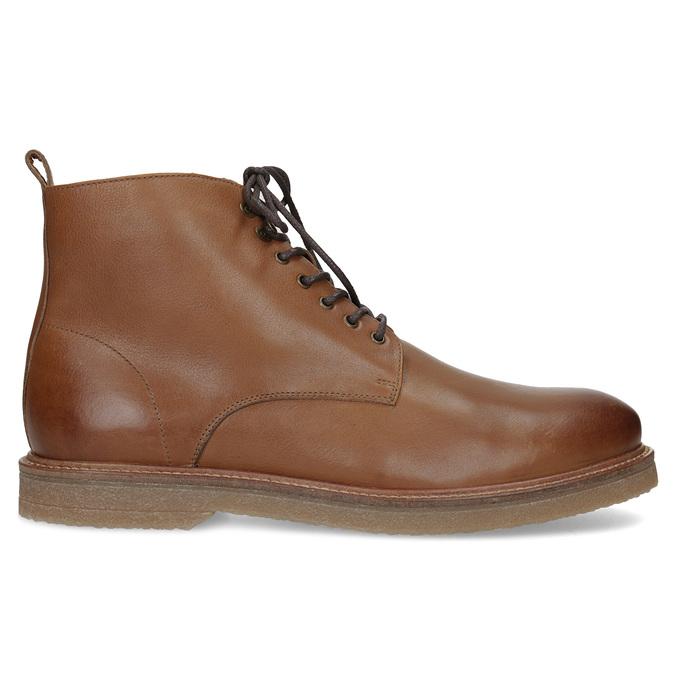 Brązowe skórzane obuwie męskie za kostkę bata, brązowy, 896-3721 - 19