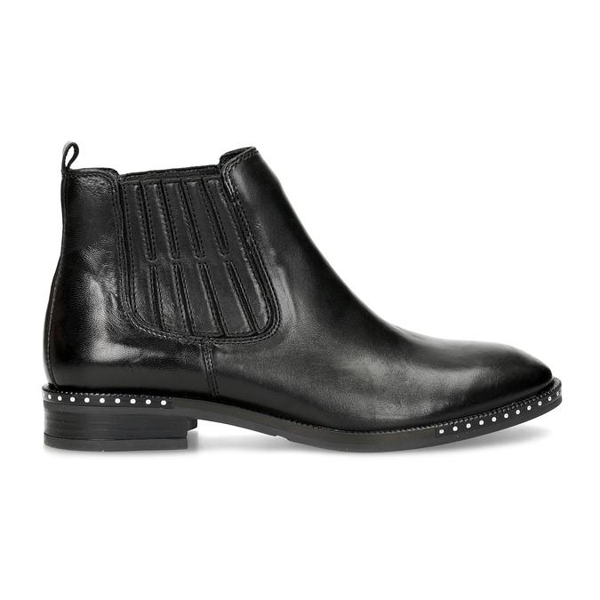 Skórzane obuwie damskie typu chelsea zkryształkami bata, czarny, 594-6682 - 19