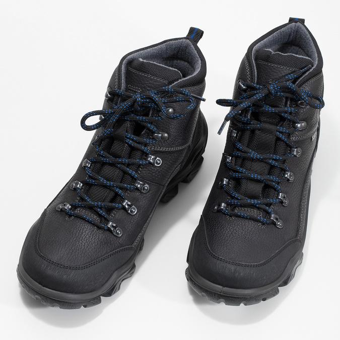 Skórzane obuwie męskie wstylu outdoor weinbrenner, czarny, 896-6706 - 16