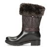 Brązowe śniegowce damskie zfuterkiem bata, brązowy, 592-4602 - 17
