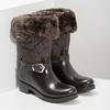 Brązowe śniegowce damskie zfuterkiem bata, brązowy, 592-4602 - 26