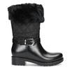 Czarne śniegowce damskie zfuterkiem bata, czarny, 592-6602 - 19