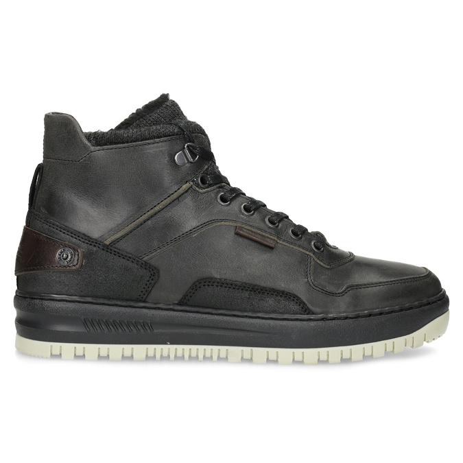 Czarne skórzane obuwie męskie za kostkę bata, czarny, 896-6712 - 19