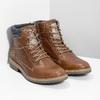 Brązowe skórzane obuwie męskie za kostkę bata, brązowy, 896-3713 - 26