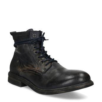 Skórzane obuwie męskie za kostkę bata, niebieski, 896-9717 - 13