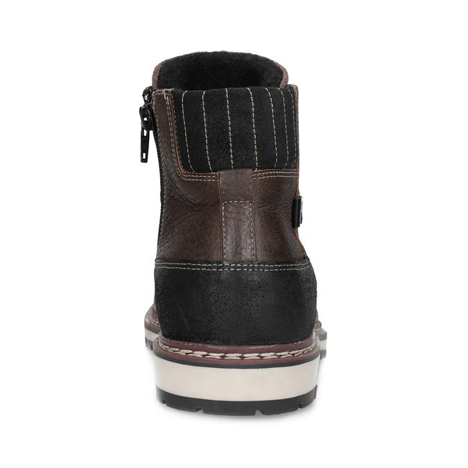 Skórzane obuwie męskie za kostkę bata, brązowy, 896-4666 - 15