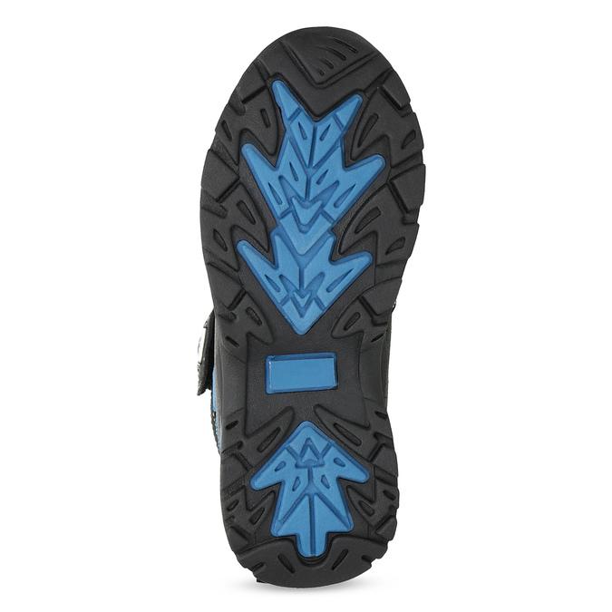 Zimowe buty dziecięce na rzepy mini-b, czarny, 491-6653 - 18
