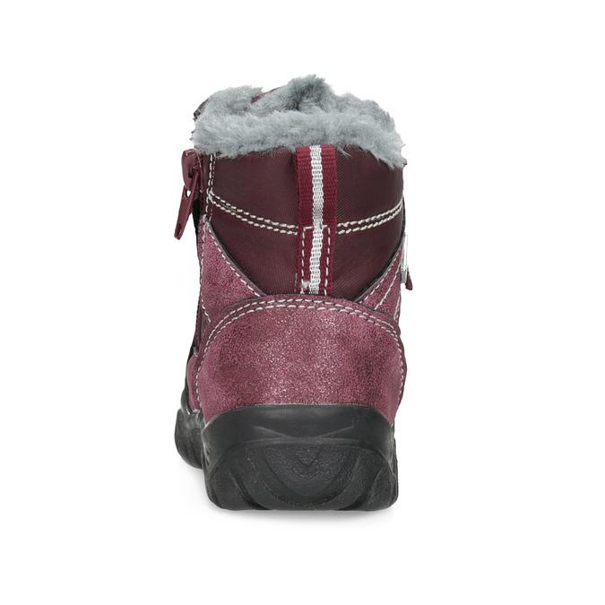 Bordowe sznurowane śniegowce dziewczęce, czerwony, 199-5613 - 15