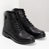 Zimowe botki męskie skórzane czarne bata, czarny, 896-6731 - 26