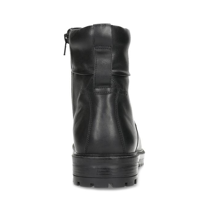 Zimowe botki męskie skórzane czarne bata, czarny, 896-6731 - 15
