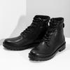 Zimowe botki męskie skórzane czarne bata, czarny, 896-6731 - 16