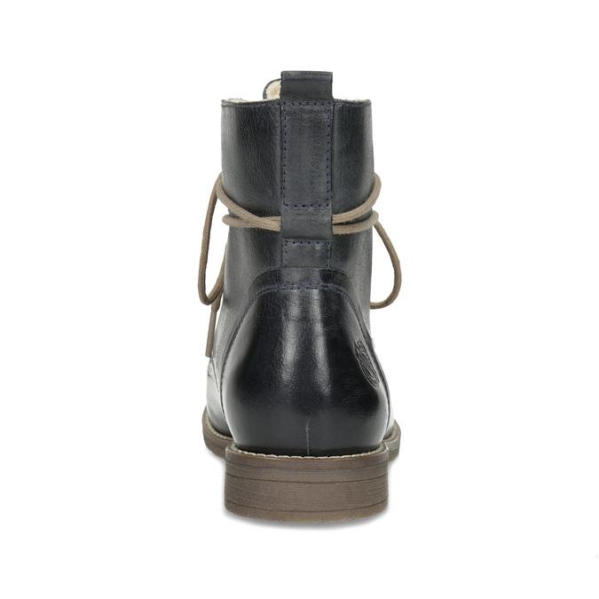Granatowe botki zociepliną bata, niebieski, 596-9702 - 15