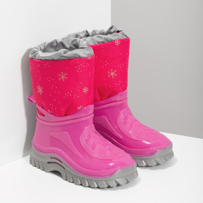 Różowe śniegowce zpłatkami śniegu mini-b, różowy, 292-5301 - 26