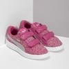 Różowe trampki dziecięce na rzepy puma, różowy, 301-5224 - 26