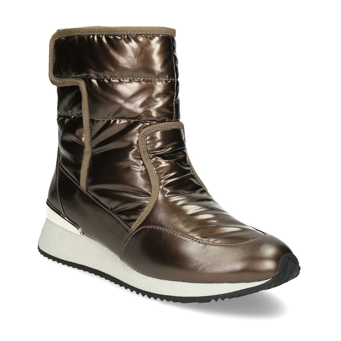 Damskie śniegowce brązowe bata, brąz, 599-8626 - 13