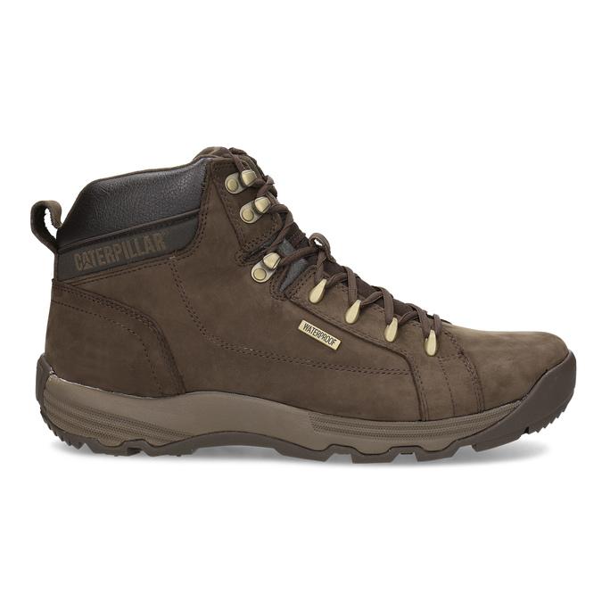 Brązowe skórzane obuwie męskie wstylu outdoor caterpillar, brązowy, 806-4108 - 19