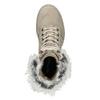 Beżowe zimowe kozaki damskie ze skóry weinbrenner, beżowy, 596-2753 - 17