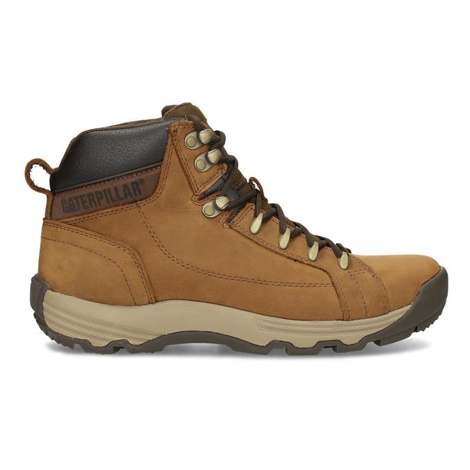 Brązowe skórzane obuwie męskie za kostkę caterpillar, brązowy, 806-3107 - 19