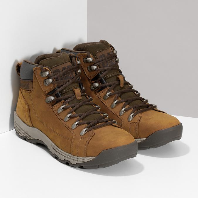 Brązowe skórzane obuwie męskie za kostkę caterpillar, brązowy, 806-3107 - 26