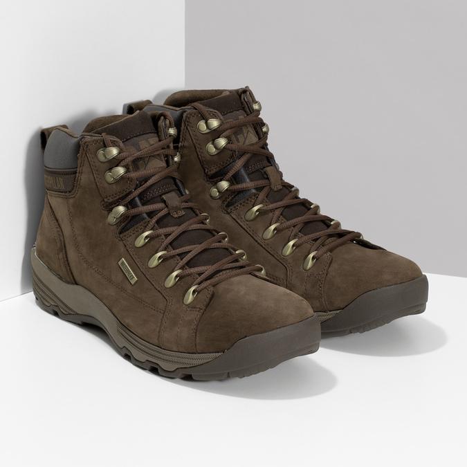 Brązowe skórzane obuwie męskie wstylu outdoor caterpillar, brązowy, 806-4108 - 26