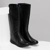 Czarne skórzane kozaki damskie bata, czarny, 594-6684 - 26