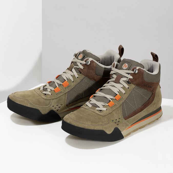 Skórzane obuwie męskie wstylu outdoor, wkolorze khaki merrell, khaki, 803-7104 - 16