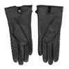 Czarne skórzane rękawiczki damskie wkratkę bata, czarny, 904-6138 - 16