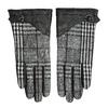 Czarne skórzane rękawiczki damskie wkratkę bata, czarny, 904-6138 - 26