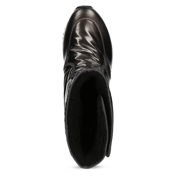 Damskie śniegowce metaliczne czarne bata, czarny, 599-6626 - 17