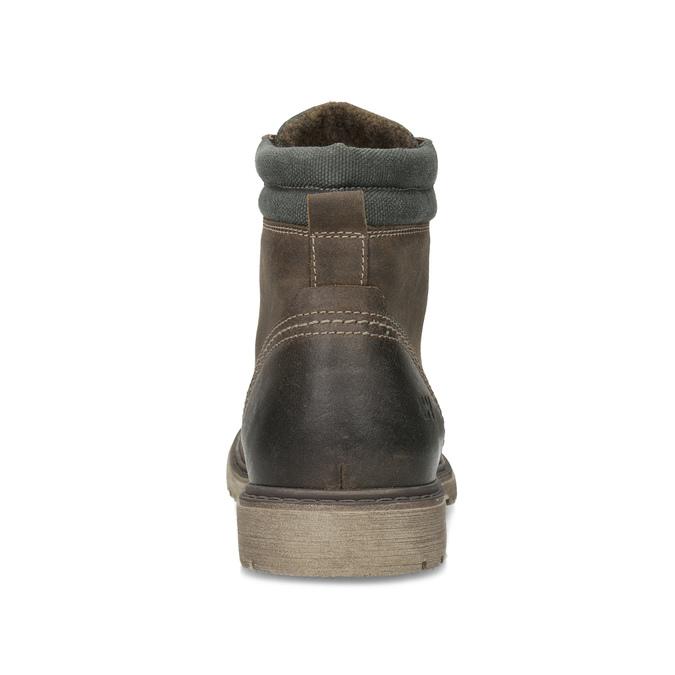 Brązowe zimowe obuwie męskie ze skóry weinbrenner, brązowy, 896-4693 - 15