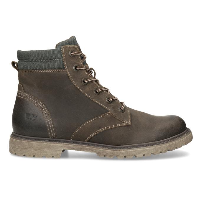 Brązowe zimowe obuwie męskie ze skóry weinbrenner, brązowy, 896-4693 - 19