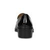 Loafersy damskie zlakierowanej skóry gabor, czarny, 618-6048 - 15