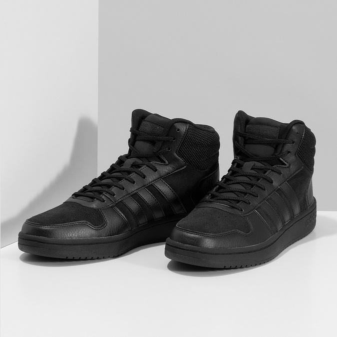 Czarne trampki męskie za kostkę adidas, czarny, 803-6118 - 16