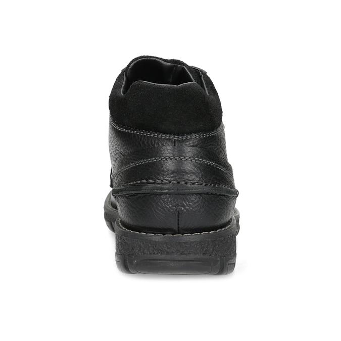 Zimowe skórzane obuwie męskie bata, czarny, 894-6715 - 15