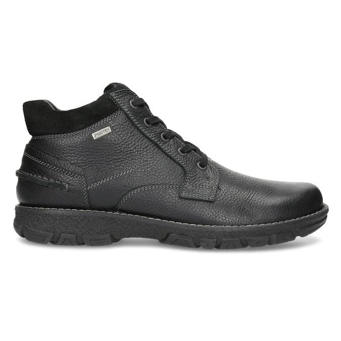 Zimowe skórzane obuwie męskie bata, czarny, 894-6715 - 19