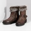 Zimowe skórzane obuwie damskie zfuterkiem bata, brązowy, 596-4701 - 16