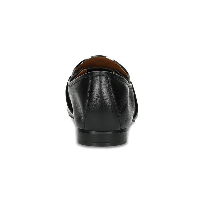 Czarne skórzane loafersy damskie calvin-klein, czarny, 514-6075 - 15