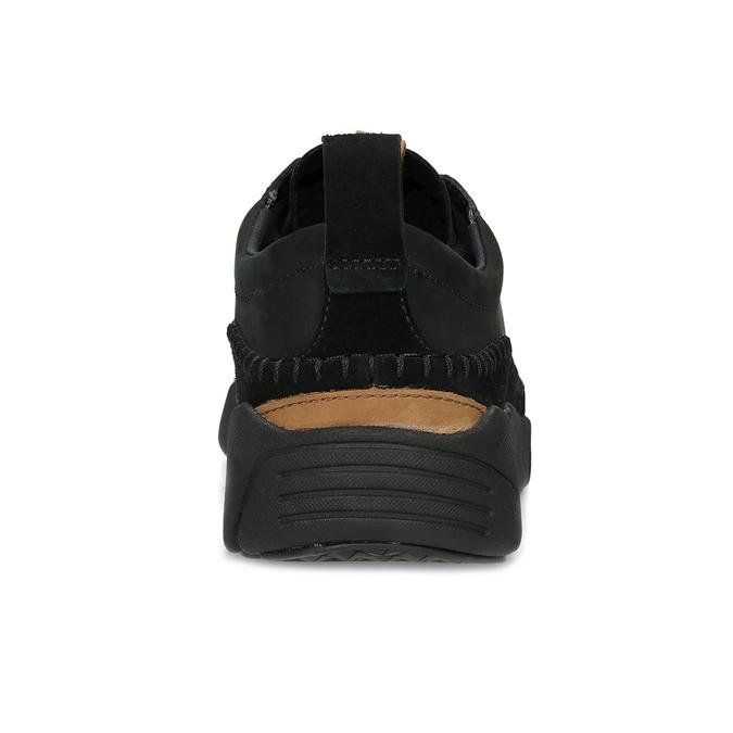 Czarne skórzane trampki męskie clarks, czarny, 824-6078 - 15