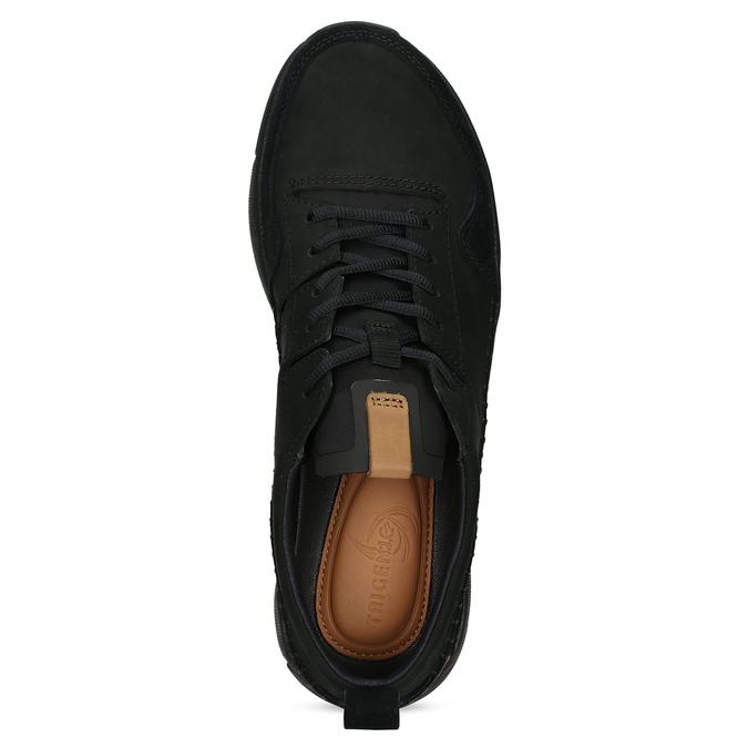 Czarne skórzane trampki męskie clarks, czarny, 824-6078 - 17