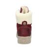Bordowe skórzane trzewiki damskie weinbrenner, czerwony, 596-5756 - 15