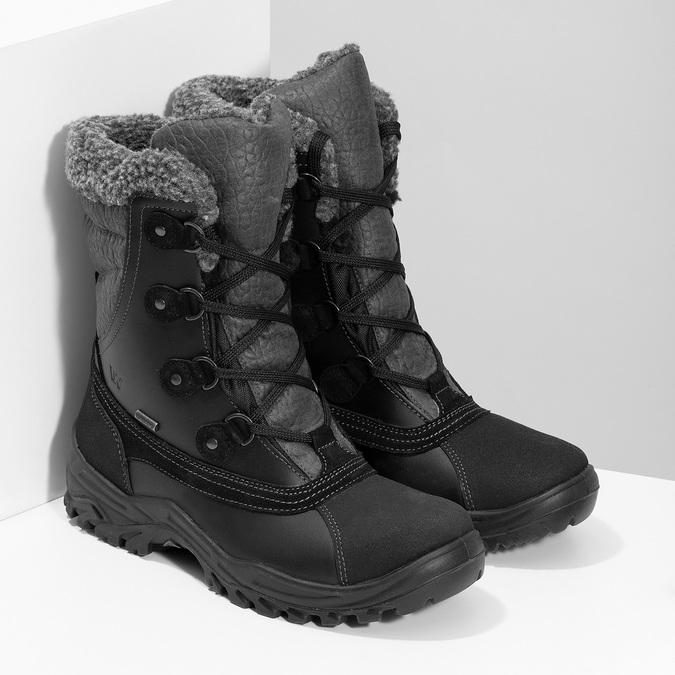 Zimowe śniegowce męskie zociepliną weinbrenner, czarny, 896-6730 - 26