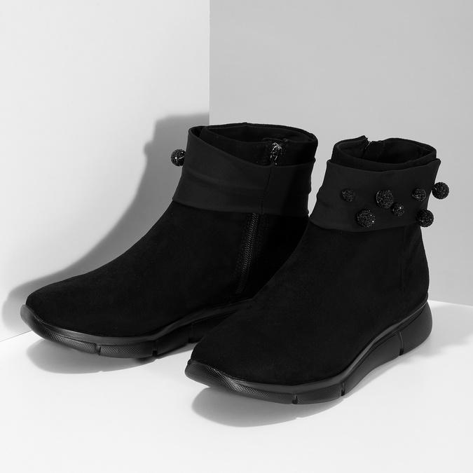 Czarne damskie zkryształkami bata-b-flex, czarny, 599-6603 - 16