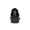Skórzane półbuty damskie zćwiekami flexible, czarny, 514-6147 - 15