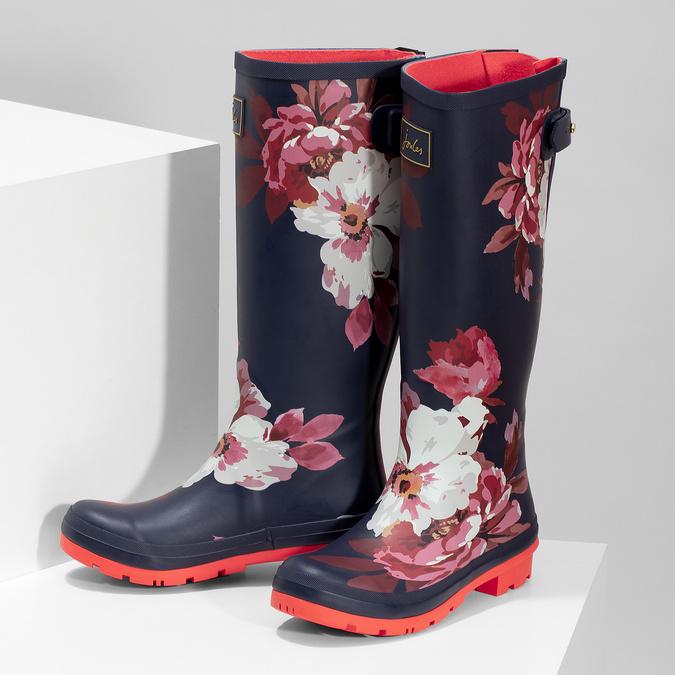 Kalosze damskie wkwiaty joules, niebieski, 502-9047 - 16