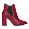 Czerwone botki typu chelsea bata, czerwony, 794-5609 - 19