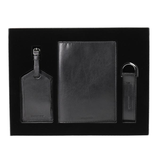 Komplet okładki na paszport, zawieszki na bagaż ibreloka do kluczy royal-republiq, czarny, 944-6004 - 13