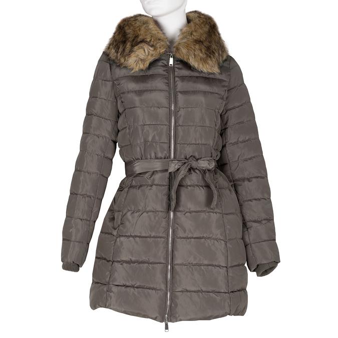 Pikowana kurtka damska zfuterkiem bata, brązowy, 979-8325 - 13