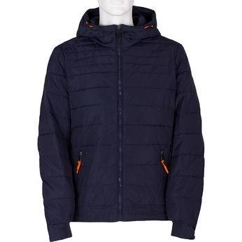 Granatowa pikowana kurtka zpomarańczowymi wykończeniami bata, niebieski, 979-9430 - 13