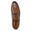 Brązowe skórzane półbuty męskie conhpol, brązowy, 826-4708 - 17