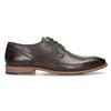 Ciemnobrązowe skórzane półbuty męskie bata, brązowy, 826-4615 - 19